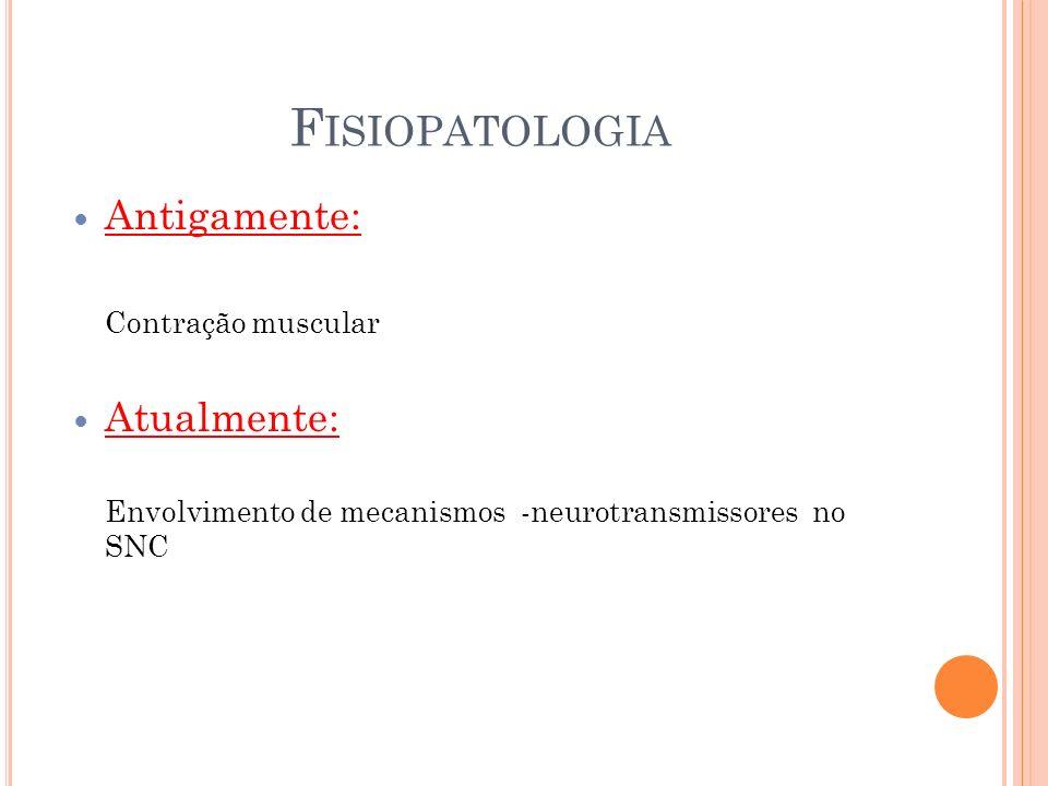 Fisiopatologia Antigamente: Atualmente: Contração muscular