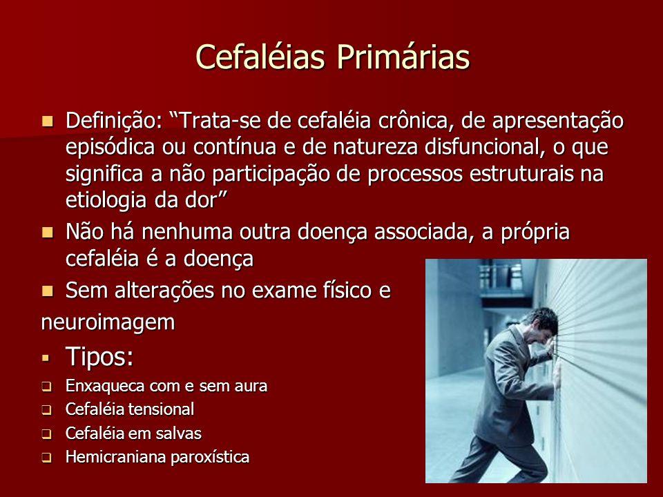 Cefaléias Primárias Tipos: