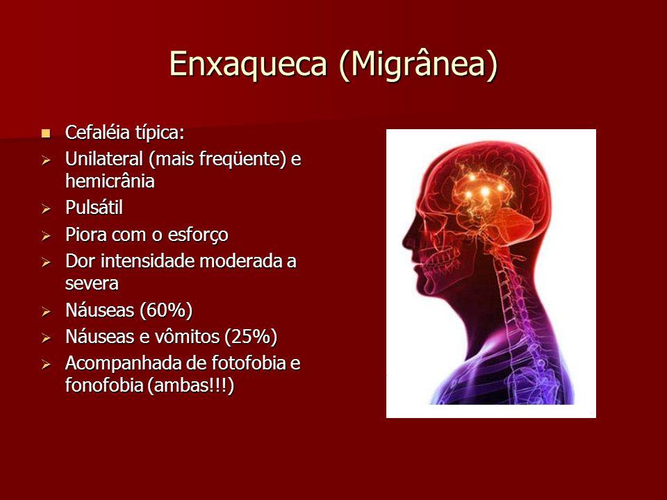 Enxaqueca (Migrânea) Cefaléia típica: