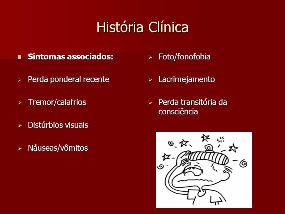 História Clínica Sintomas associados: Perda ponderal recente