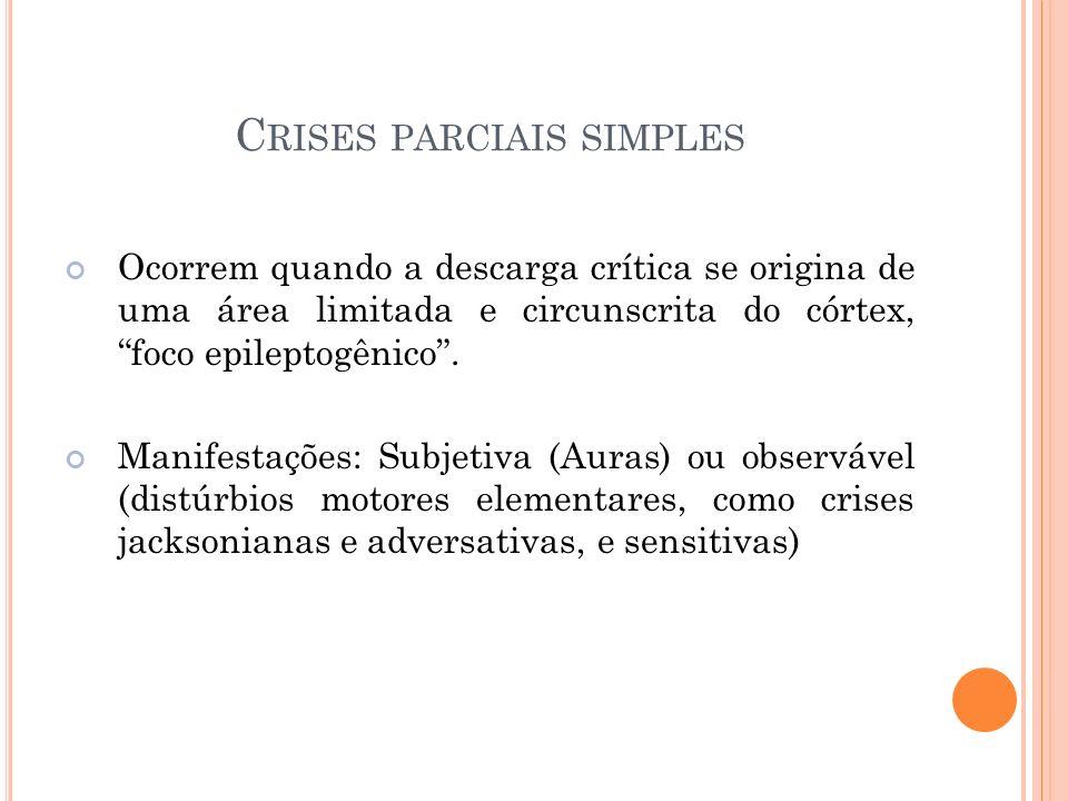 Crises parciais simples