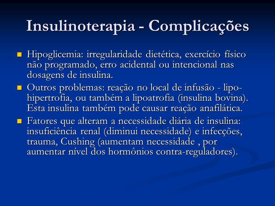 Insulinoterapia - Complicações