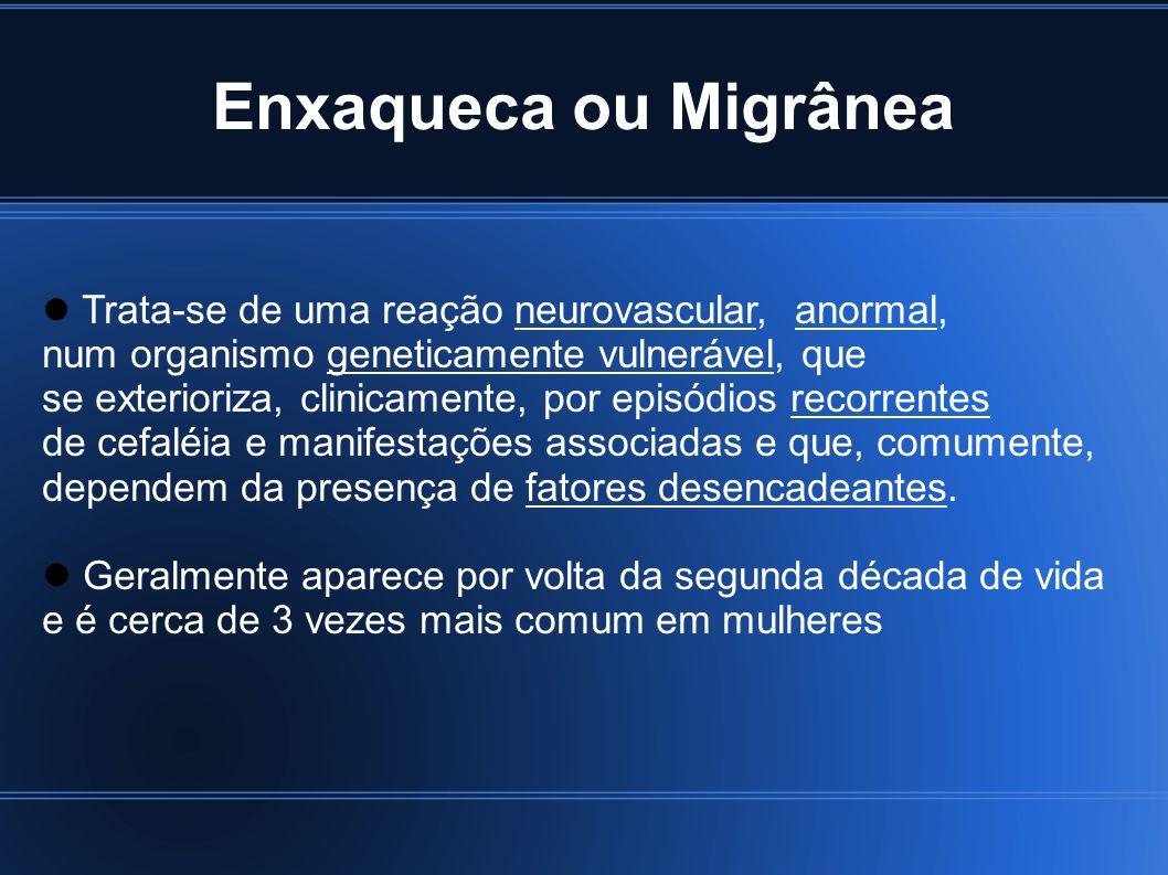 Enxaqueca ou Migrânea num organismo geneticamente vulnerável, que
