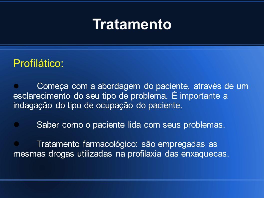 Tratamento Profilático: Saber como o paciente lida com seus problemas.