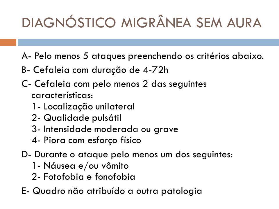 DIAGNÓSTICO MIGRÂNEA SEM AURA