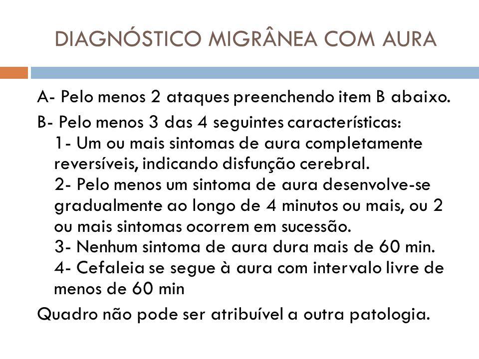 DIAGNÓSTICO MIGRÂNEA COM AURA