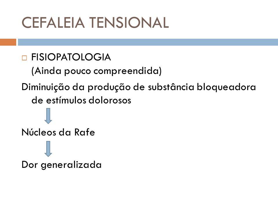 CEFALEIA TENSIONAL FISIOPATOLOGIA (Ainda pouco compreendida)