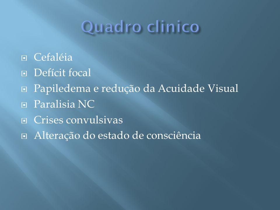 Quadro clinico Cefaléia Defícit focal
