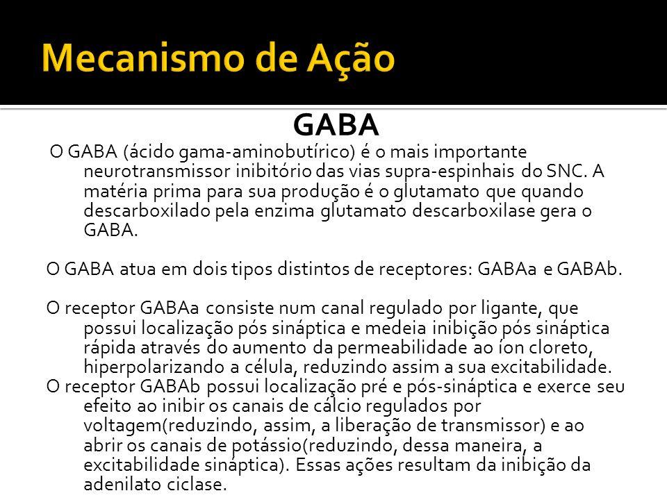 Mecanismo de Ação GABA.