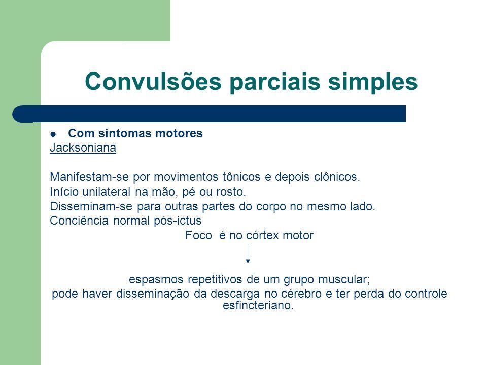 Convulsões parciais simples