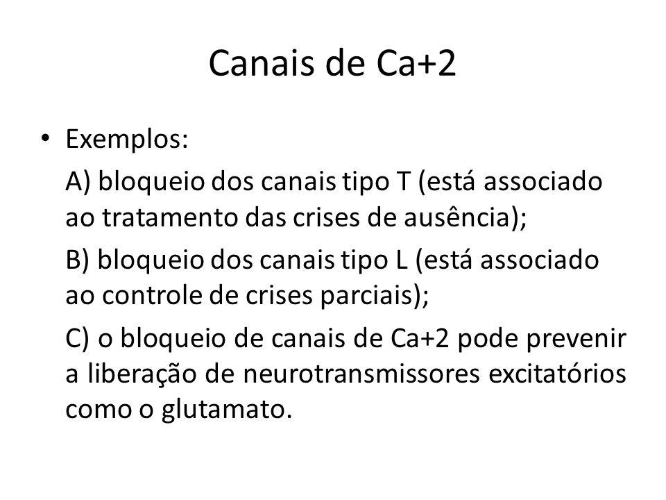 Canais de Ca+2 Exemplos: