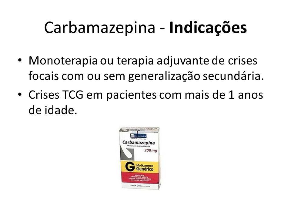 Carbamazepina - Indicações