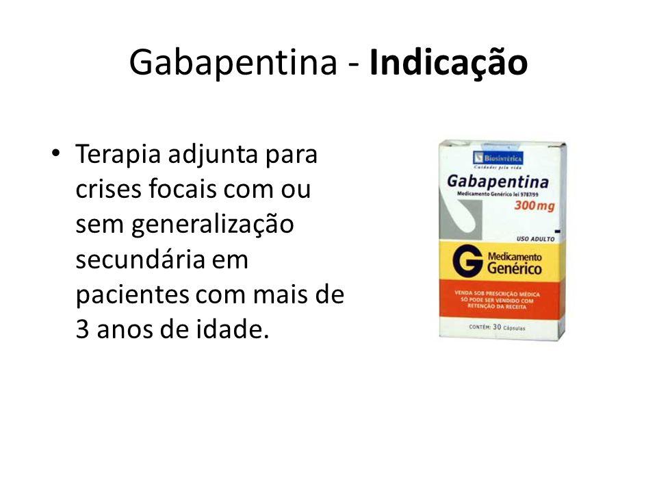 Gabapentina - Indicação
