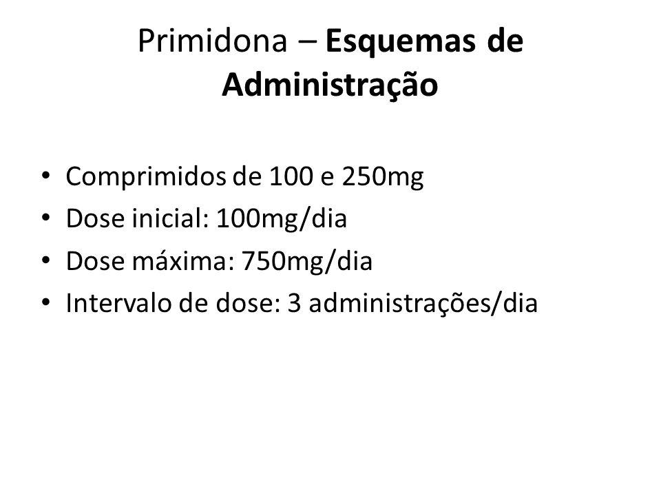 Primidona – Esquemas de Administração