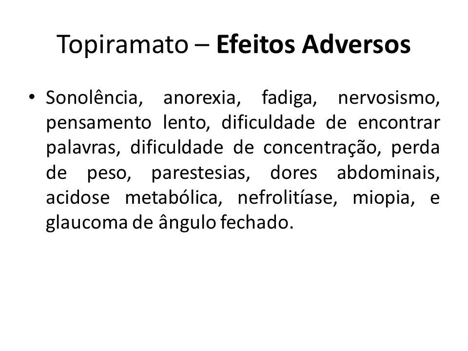 Topiramato – Efeitos Adversos