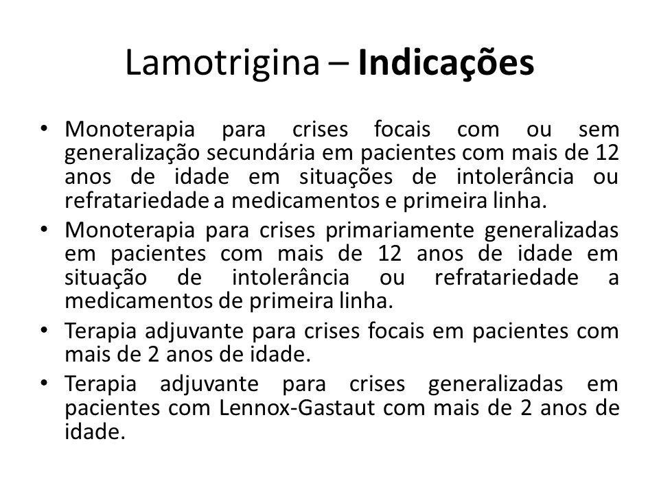 Lamotrigina – Indicações