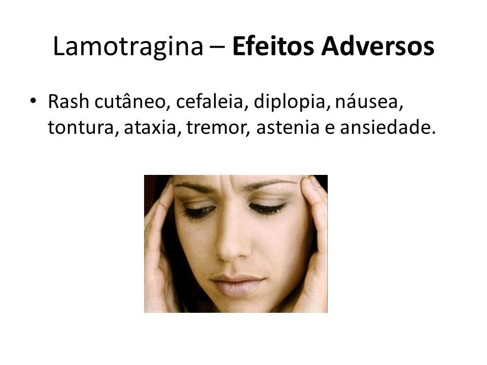Lamotragina – Efeitos Adversos