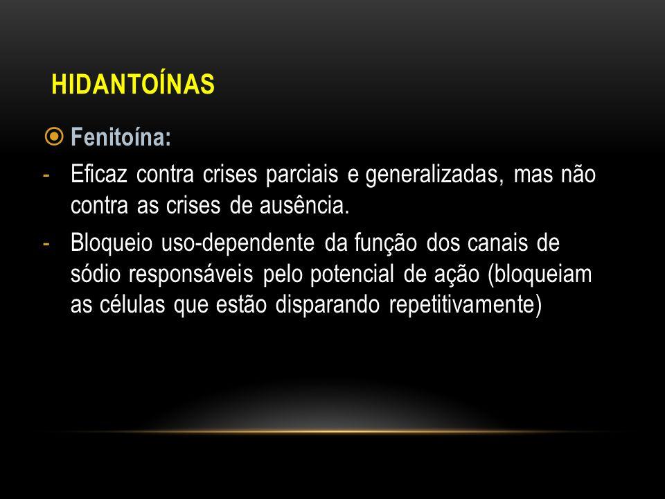 Hidantoínas Fenitoína: