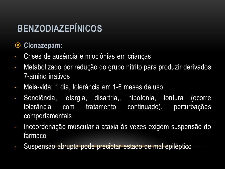 Benzodiazepínicos Clonazepam: