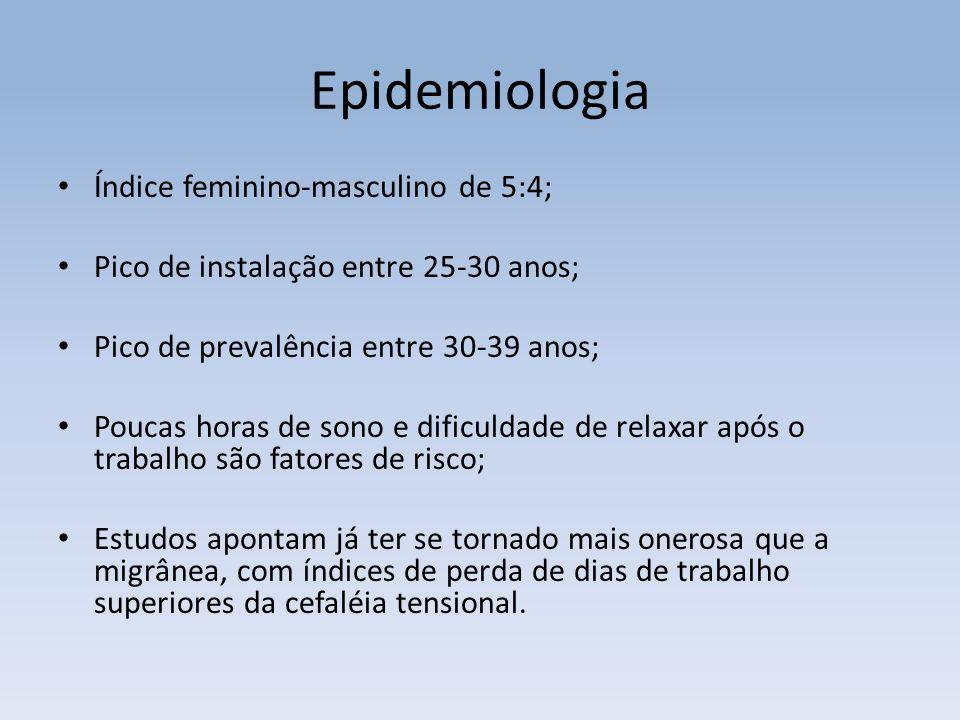 Epidemiologia Índice feminino-masculino de 5:4;