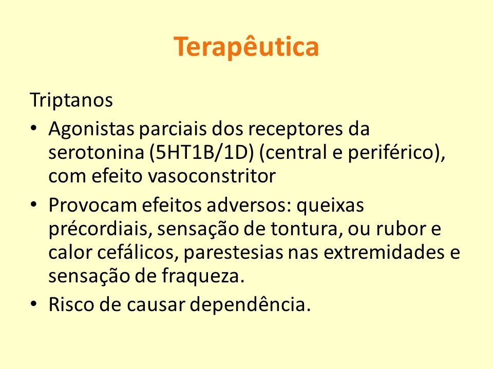 Terapêutica Triptanos