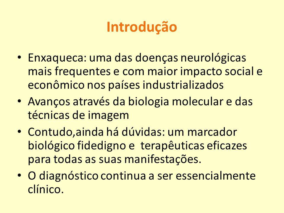 Introdução Enxaqueca: uma das doenças neurológicas mais frequentes e com maior impacto social e econômico nos países industrializados.