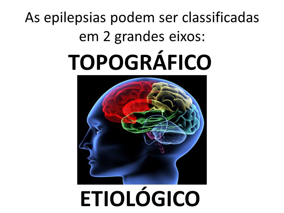 As epilepsias podem ser classificadas em 2 grandes eixos:
