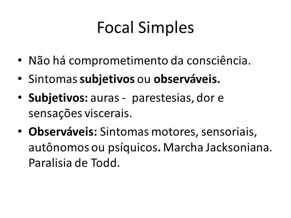 Focal Simples Não há comprometimento da consciência.