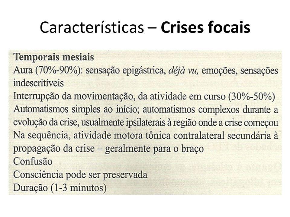 Características – Crises focais