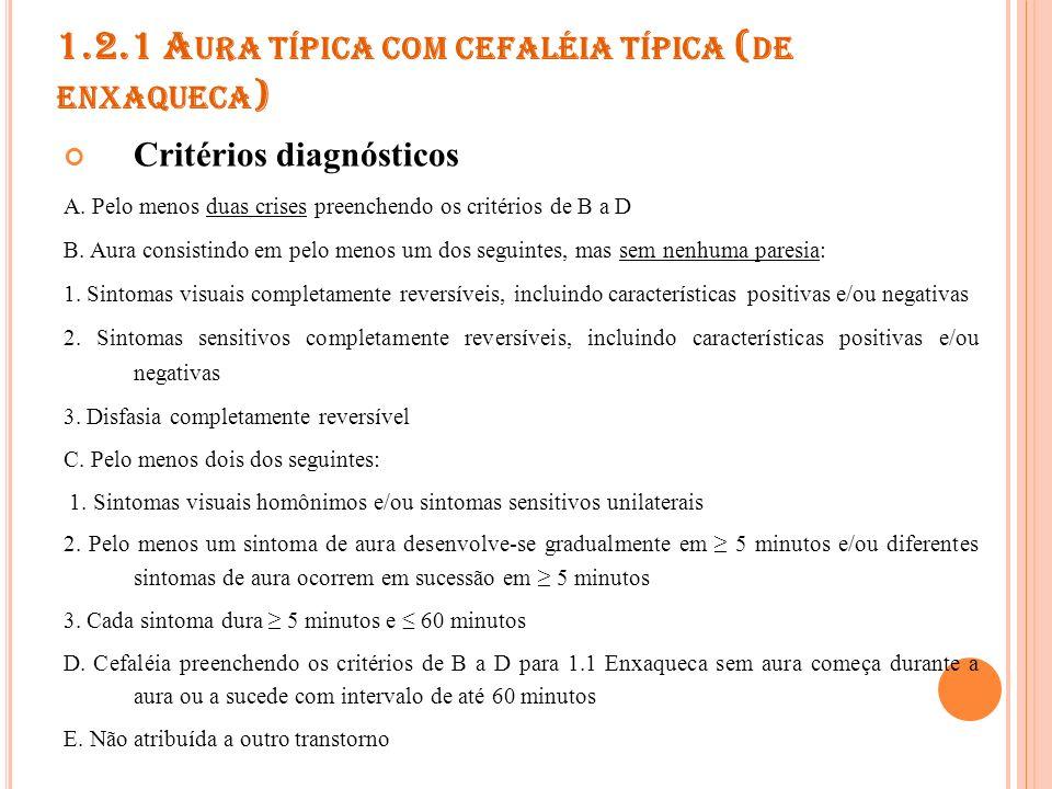 1.2.1 Aura típica com cefaléia típica (de enxaqueca)