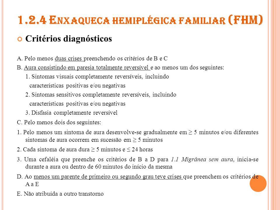 1.2.4 Enxaqueca hemiplégica familiar (FHM)