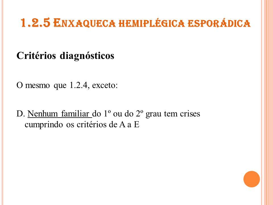 1.2.5 Enxaqueca hemiplégica esporádica