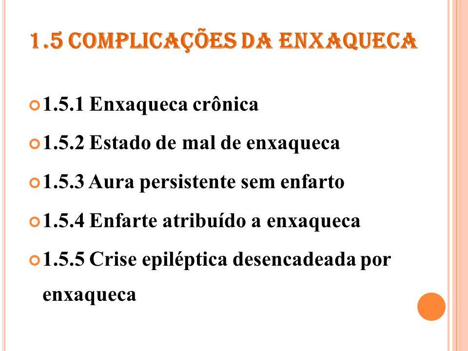 1.5 COMPLICAÇÕES DA ENXAQUECA