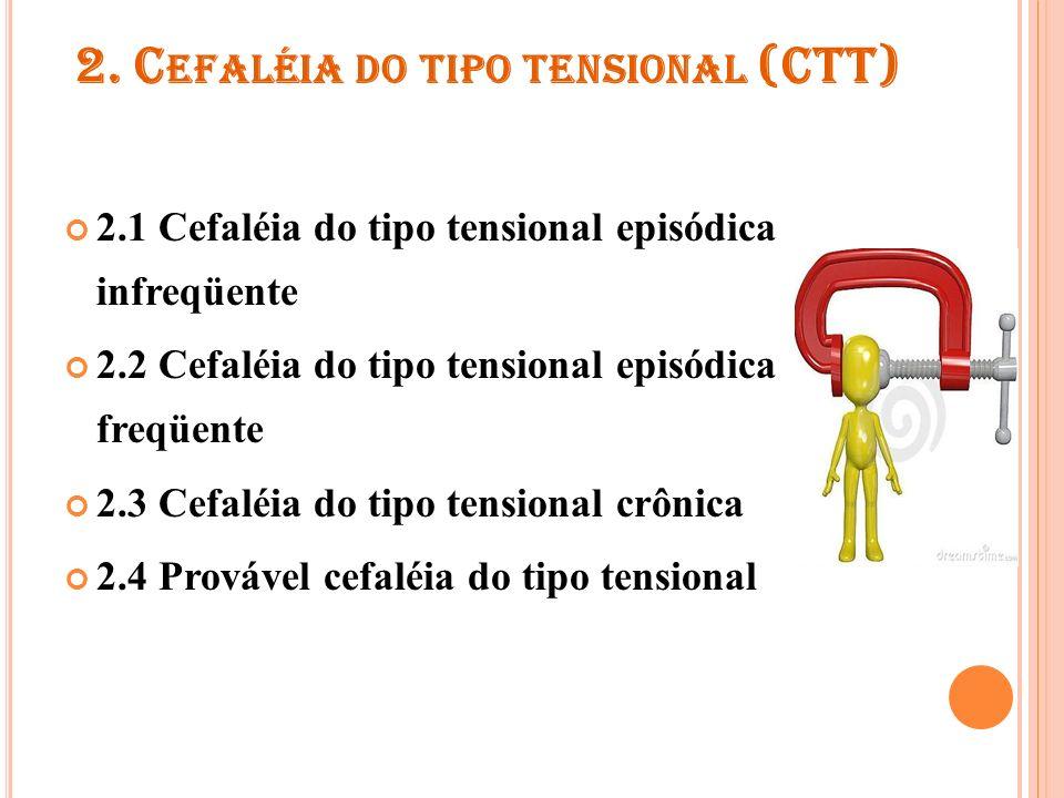 2. Cefaléia do tipo tensional (CTT)