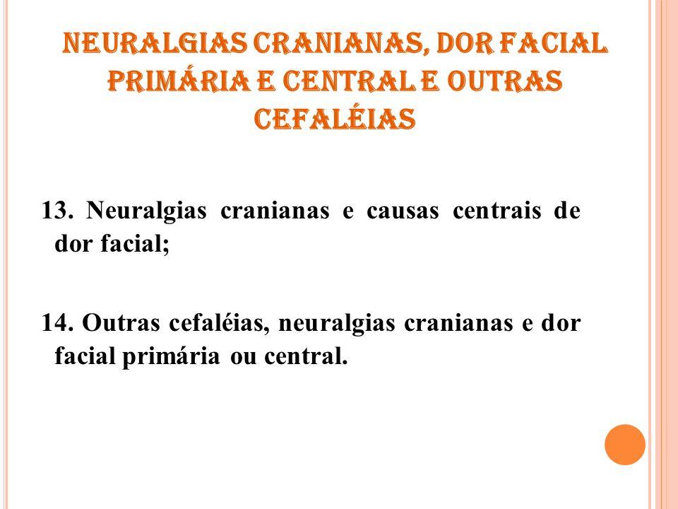 Neuralgias cranianas, dor facial primária e central e outras cefaléias