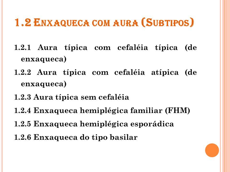 1.2 Enxaqueca com aura (Subtipos)