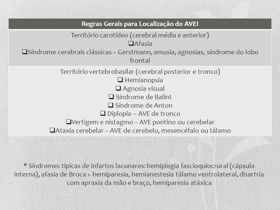 Regras Gerais para Localização do AVEI