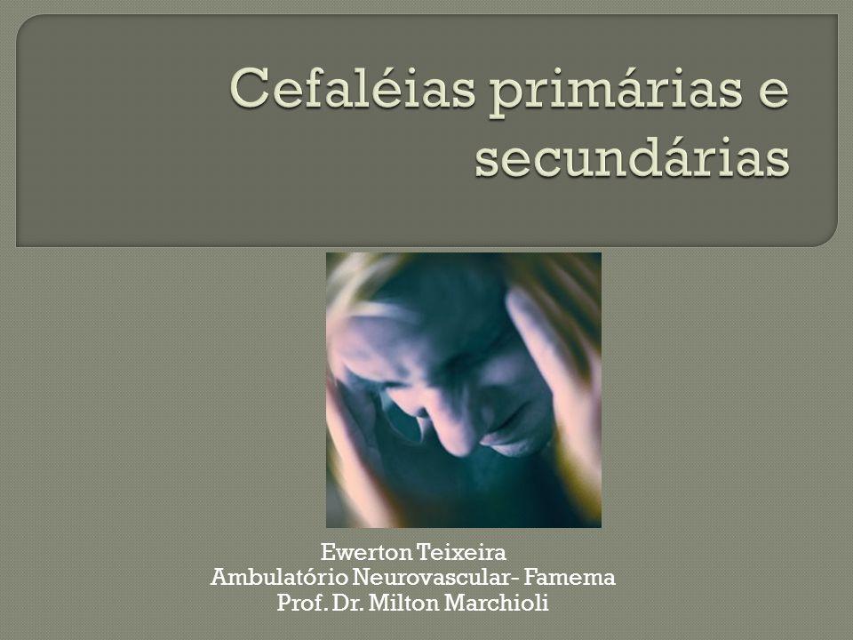 Cefaléias primárias e secundárias