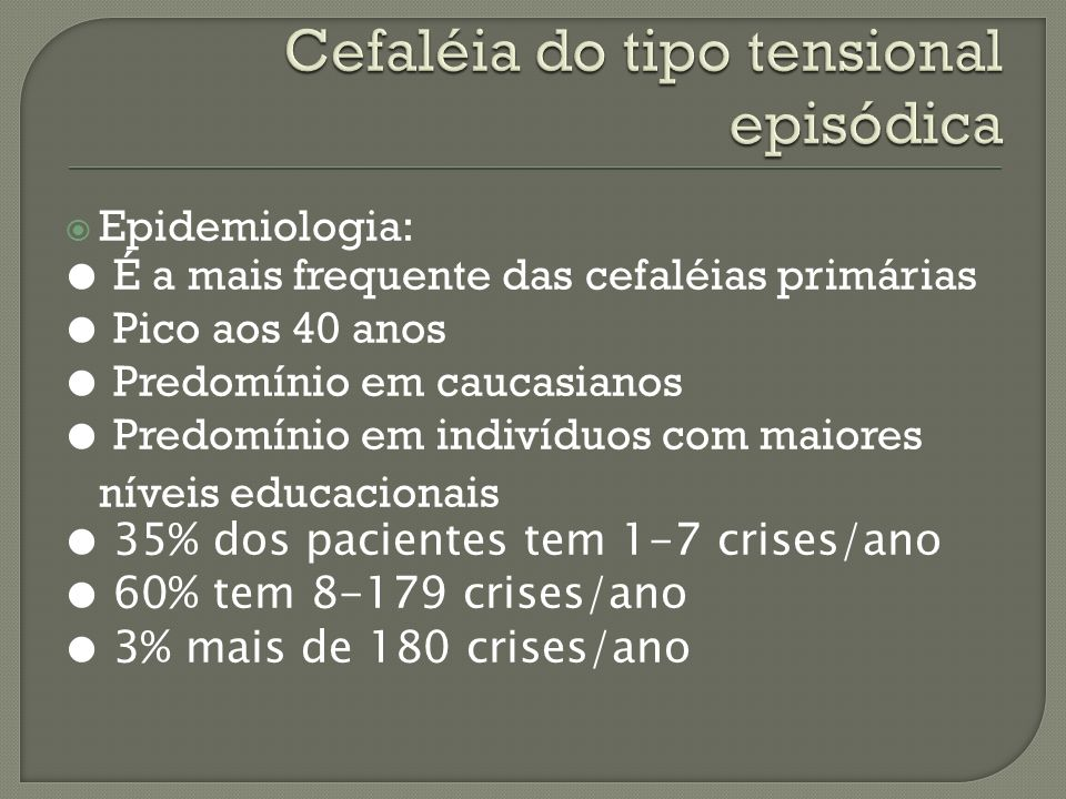 Cefaléia do tipo tensional episódica