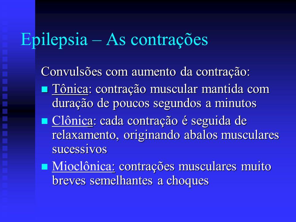 Epilepsia – As contrações