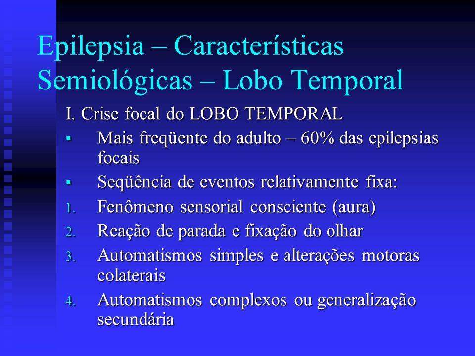 Epilepsia – Características Semiológicas – Lobo Temporal
