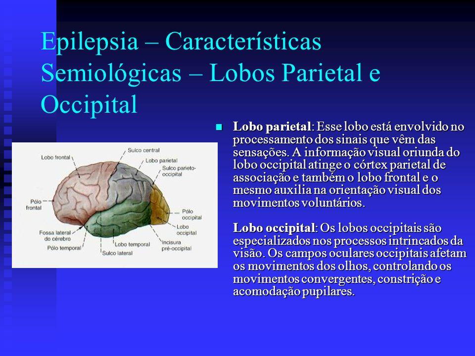 Epilepsia – Características Semiológicas – Lobos Parietal e Occipital