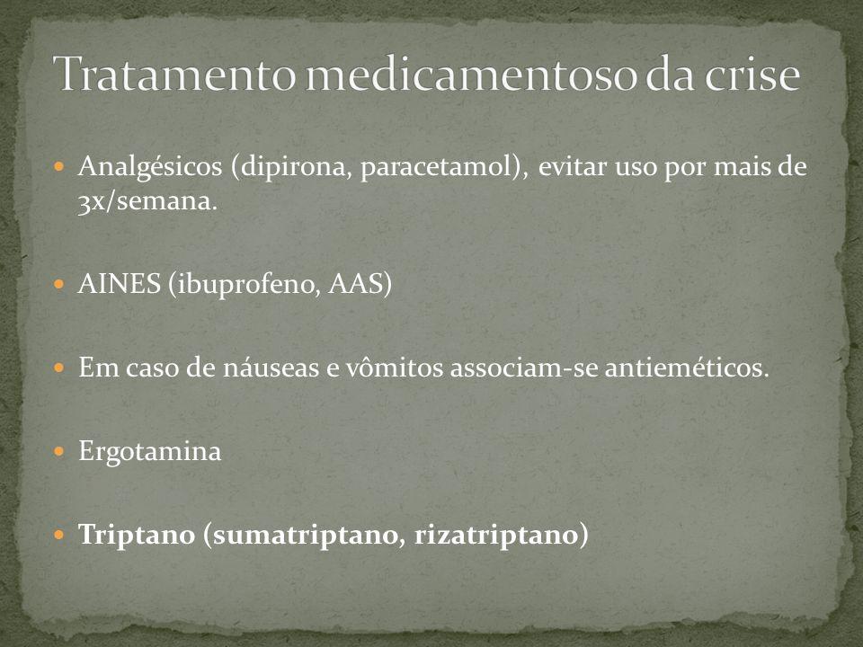 Tratamento medicamentoso da crise