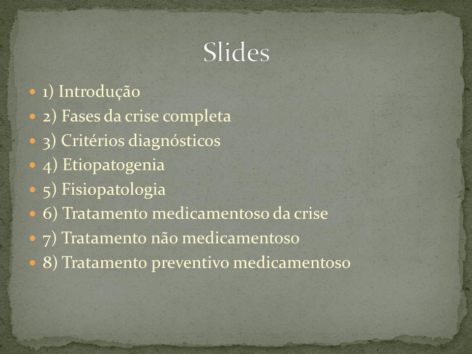 Slides 1) Introdução 2) Fases da crise completa