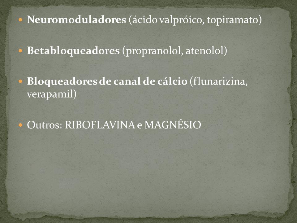 Neuromoduladores (ácido valpróico, topiramato)