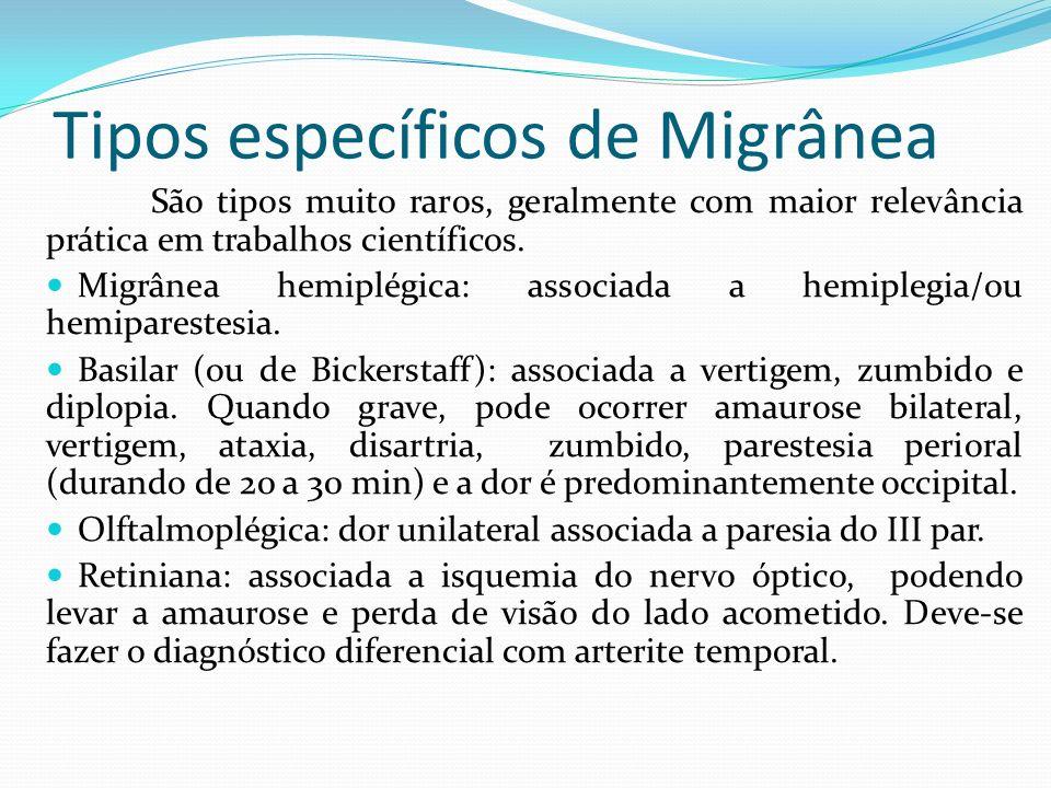 Tipos específicos de Migrânea