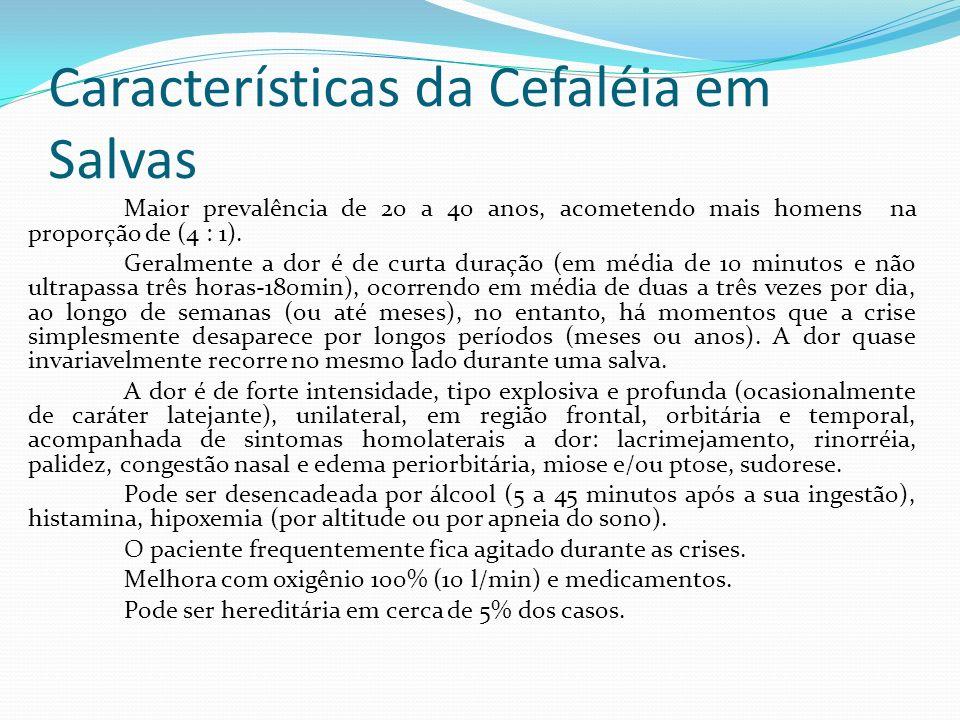 Características da Cefaléia em Salvas