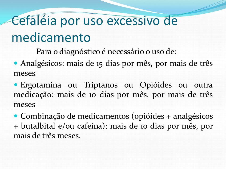 Cefaléia por uso excessivo de medicamento