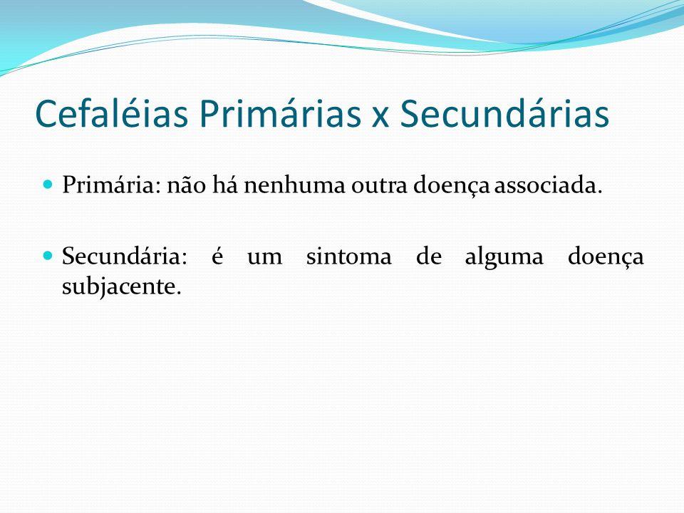 Cefaléias Primárias x Secundárias