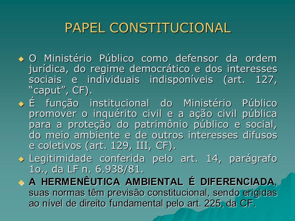 PAPEL CONSTITUCIONAL